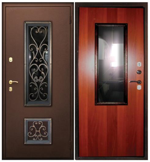 высокие металлические нестандартные двери